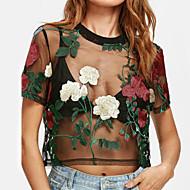 Majica s rukavima Žene Cvjetni print Poliester