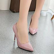 Žene Cipele PU Proljeće Jesen Obične salonke Cipele na petu Stiletto potpetica Krakova Toe za Vanjski Obala Crvena Pink