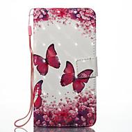 billiga Mobil cases & Skärmskydd-fodral Till Xiaomi Redmi not 5A Redmi Note 4X Korthållare Plånbok med stativ Fodral Fjäril Hårt PU läder för Xiaomi Redmi Note 4X Redmi