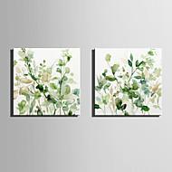Lærredstryk Moderne, To Paneler Lærred Kvadrat Print Vægdekor Hjem Dekoration