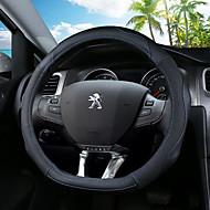 """כיסויים להגה עור אמיתי 36ס""""מ פול / שחור / שחור / אדום עבור Peugeot 308 / 308S"""
