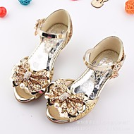 cheap Flower Girl Shoes-Girls' Shoes Sparkling Glitter Spring Summer Flower Girl Shoes Comfort Sandals for Casual Gold Silver Blue Pink