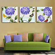 cheap Prints-Canvas Print Rustic Modern, Three Panels Canvas Square Print Wall Decor Home Decoration