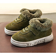 baratos Sapatos de Menino-Para Meninos Sapatos Pêlo Outono / Inverno Conforto Tênis para Casual Preto / Marron / Verde Tropa
