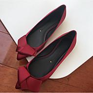billige -60%-Dame Sko Karbonfiber Sommer Komfort Flate sko Flat Spisstå Sløyfe til Avslappet Rød