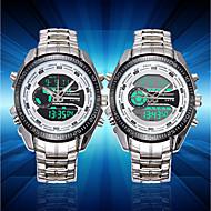 Homens Relógio de Moda Relógio de Pulso Único Criativo relógio Japanês Quartzo Calendário Luminoso LCD Cronômetro Mostrador Grande Aço