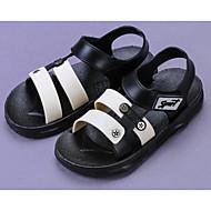 baratos Sapatos de Menino-Para Meninos Sapatos Pele PVC Primavera / Verão Conforto Sandálias para Preto / Azul