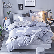 cheap Contemporary Duvet Covers-Duvet Cover Sets Contemporary Poly / Cotton Reactive Print 4 Piece