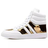 Muškarci Cipele Sintetika, mikrofibra, PU Proljeće Jesen Udobne cipele Sneakers za Kauzalni Obala Crno-srebrna