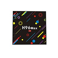 Χαμηλού Κόστους -H96 Max TV Box Android 7.1 TV Box RK3328 Quad-Core 64bit Cortex-A53 4GB RAM 32GB ROM Quad Core