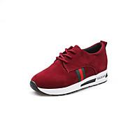 baratos Sapatos Masculinos-Mulheres Fashion Boots Couro Ecológico Primavera / Outono Conforto Rasos Preto / Cinzento / Vermelho