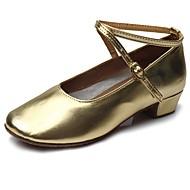 billige Moderne sko-Barns Dansesko Lakklær Høye hæler Lav hæl Kan spesialtilpasses Dansesko Gull