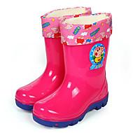 baratos Sapatos de Menina-Para Meninas Sapatos Pele PVC Primavera / Outono Conforto / Botas de Chuva Botas para Azul / Rosa claro / Botas Cano Médio
