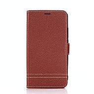billiga Mobil cases & Skärmskydd-fodral Till Huawei Mate 10 lite Mate 10 Korthållare Plånbok med stativ Lucka Fodral Ensfärgat Hårt PU läder för Mate 10 Mate 10 lite