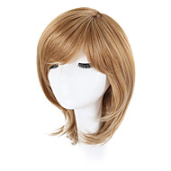 Syntetiske parykker Bølget Blond Bob frisure / Pixie frisure / Med bangs / pandehår Syntetisk hår Natural Hairline / Side del / Afro-amerikansk paryk Blond Paryk Lågløs
