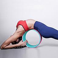 baratos Equipamentos & Acessórios Fitness-32 cm Roda de Ioga Com Acessório, Confortável, Mais forte Inversões e Backbends, Alongador Para as Costas, Aumente a Precisão e a Flexibilidade Borracha Para Pilates / Exercício e Atividade Física