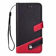 billiga Mobil cases & Skärmskydd-fodral Till OnePlus OnePlus 5T Korthållare / med stativ / Lucka Fodral Enfärgad Hårt PU läder för OnePlus 5T