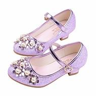 お買い得  フラワーガールシューズ-女の子 靴 PUレザー 春夏 コンフォートシューズ / フラワーガールシューズ / 10代のための小さなハイヒール ヒール のために シルバー / パープル / ピンク