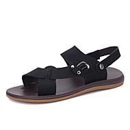 זול -נעליים מיקרופייבר PU סינתטי קיץ נוחות סנדלים ל משרד קריירה בָּחוּץ שחור חום