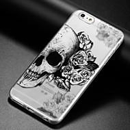 billiga Mobil cases & Skärmskydd-fodral Till Apple iPhone X iPhone 8 iPhone 6 iPhone 6 Plus IMD Ultratunt Genomskinlig Mönster Skal Dödskalle Mjukt TPU för iPhone X