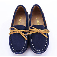 baratos Sapatos de Menina-Para Meninos / Para Meninas Sapatos Pele Nobuck / Couro Primavera Conforto Mocassins e Slip-Ons para Azul Escuro / Verde Escuro