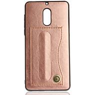 billiga Mobil cases & Skärmskydd-fodral Till Nokia Nokia 6 Nokia 3 Korthållare med stativ Ensfärgat Hårt för