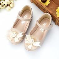 baratos Sapatos de Menina-Para Meninas Sapatos Micofibra Sintética PU Primavera / Outono Conforto / Sapatos para Daminhas de Honra Rasos para Bege / Rosa claro
