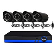 billige AHD-sæt-4 ch sikkerhedssystem med 4ch 1080n ahd dvr 41.3mp vejrbestandige kameraer med nattesyn