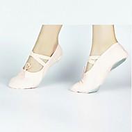 baratos Sapatilhas de Dança-Mulheres Sapatilhas de Balé Lona Têni Recortes Salto Personalizado Personalizável Sapatos de Dança Preto / Vermelho / Rosa claro