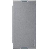 billiga Mobil cases & Skärmskydd-fodral Till Sony Xperia XZ1 Xperia X compact Korthållare Lucka Frostat Fodral Ensfärgat Hårt PU läder för Xperia XZ1 Compact Sony Xperia