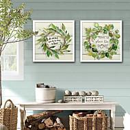 baratos Quadros com Moldura-Palavras e Citações Floral/Botânico Ilustração Arte de Parede,PVC Material com frame For Decoração para casa Arte Emoldurada Sala de