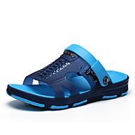 お買い得  特別セール-男性用 靴 オーダーメイド素材 夏 コンフォートシューズ スリッパ&フリップ・フロップ グレー / コーヒー / グリーン