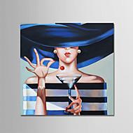 billiga Människomålningar-Hang målad oljemålning HANDMÅLAD - Människor Samtida Moderna Duk