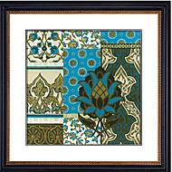 billige Innrammet kunst-Innrammet Oljemaleri Abstrakt Olje Maleri Veggkunst, Polystyrene Materiale med ramme Hjem Dekor Rammekunst Stue Innendørs