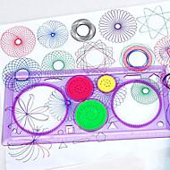 Lousas Mágicas Spirograph Brinquedos Retângular Tema Jardim Pintura Interação pai-filho Diversão Novo Design Plástico Suave Crianças