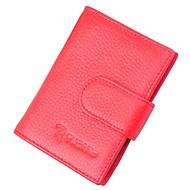 お買い得  Card & ID Holder-レザー カード&IDホルダー ボタン のために オフィス&キャリア 春夏 &