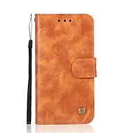 billiga Mobil cases & Skärmskydd-fodral Till Nokia Nokia 8 / Nokia 6 Plånbok / Korthållare / med stativ Fodral Enfärgad Hårt PU läder för Nokia 8 / Nokia 6 / Nokia 5