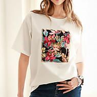 Dame Trykt mønster T-shirt