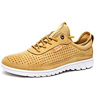 cheap Men's Athletic Shoes-Men's Shoes Real Leather Cowhide Nappa Leather Spring Summer Comfort Athletic Shoes Running Shoes for Outdoor Office & Career Blue Yellow