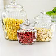 billiga Köksförvaring-Glas Kreativ Köksredskap Bulk Food Storage 3pcs Kök Organisation