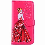 billiga Mobil cases & Skärmskydd-fodral Till Xiaomi Redmi not 5A Redmi Note 4 Korthållare Plånbok med stativ Lucka Magnet Mönster Fodral Sexig kvinna Hårt PU läder för