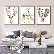baratos Quadros com Moldura-Animais Ilustração Arte de Parede,PVC Material com frame For Decoração para casa Arte Emoldurada Sala de Estar Interior