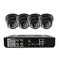 cheap DVR Kits-4CH 1080N DVR kit 4pcs Dome CCTV Camera Security System Indoor Day Night IR-CUT 3.6mm