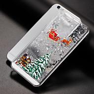 billiga Mobil cases & Skärmskydd-fodral Till iPhone 7 / iPhone 7 Plus / iPhone 6s Plus iPhone 8 / iPhone 8 Plus Flytande vätska Skal Glittrig / Jul Hårt PC för iPhone 8 Plus / iPhone 8 / iPhone 7 Plus