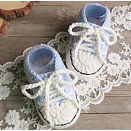 お買い得  ベビー用靴-靴 繊維 春 / 秋 コンフォートシューズ / 赤ちゃん用靴 フラット のために 赤ちゃん フクシャ / ライトイエロー / ライトブルー