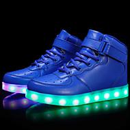 tanie Obuwie chłopięce-Dla chłopców Buty Derma Materiał do wyboru Zima Wiosna Świecące buty Comfort Buty płaskie Tenisówki Przypadkowy Obuwie turystyczne LED