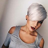 Ljudski kose bez kaplama Ljudska kosa Ravan kroj Pixie frizura Stražnji dio Machine Made Perika Žene