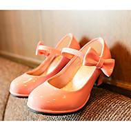 お買い得  フラワーガールシューズ-女の子 靴 PUレザー 春 秋 コンフォートシューズ フラワーガールシューズ ヒール のために カジュアル ブラック レッド ピンク