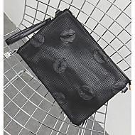 tanie Kopertówki i torebki wieczorowe-Męskie Torby Sztuczna skóra Kopertówka Zamek na Zakupy Casual Wiosna Lato Black