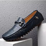Men's Moccasin Pigskin Spring / Fall Loafers & Slip-Ons Walking Shoes Black / Orange / Navy Blue / Tassel